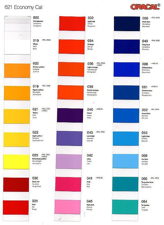 Oracal 621 Color